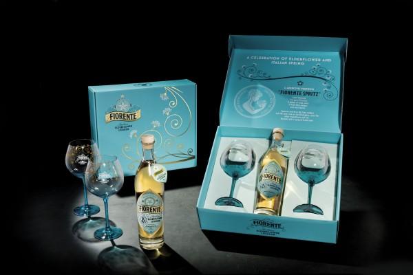 Fiorente Elderflower Liquer Set mit 2 Gläsern